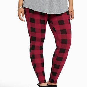 Torrid Pink & Black Plaid Leggings Plus Size 4X